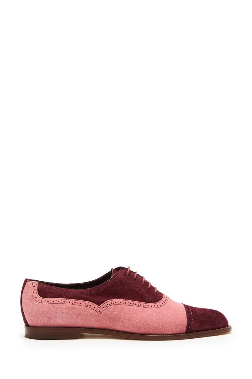 женские туфли-оксфорды manolo blahnik, розовые