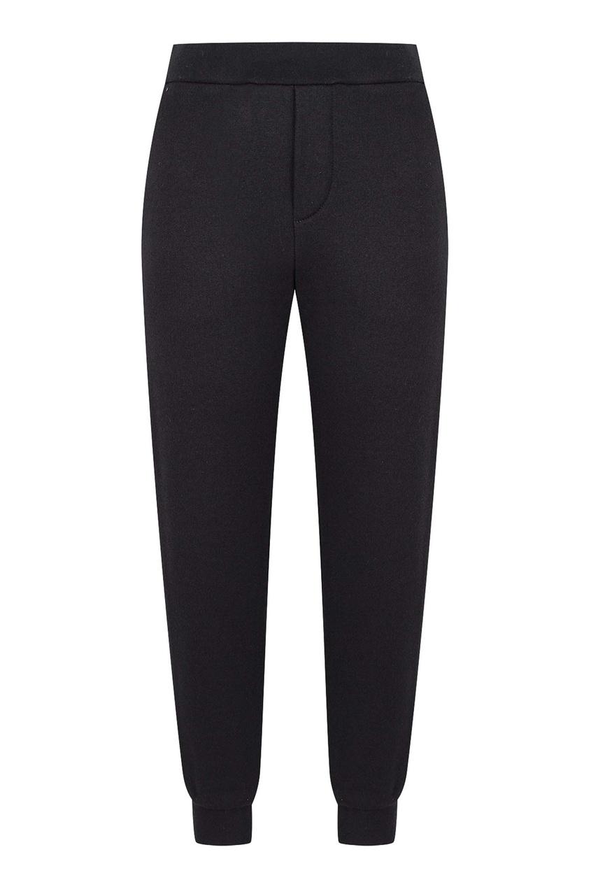 Темно-синие брюки-джоггеры с круглым логотипом Fendi Kids