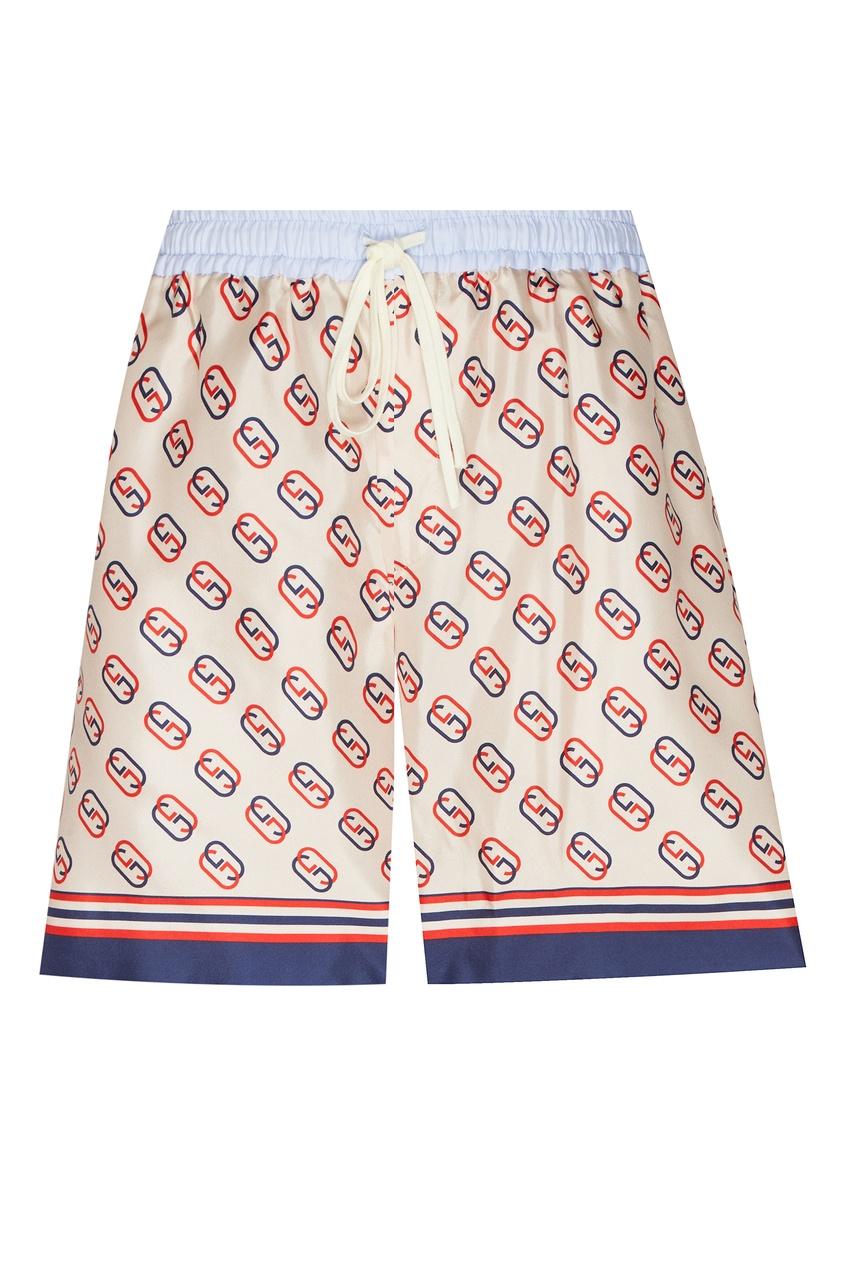 мужские шорты gucci man, бежевые