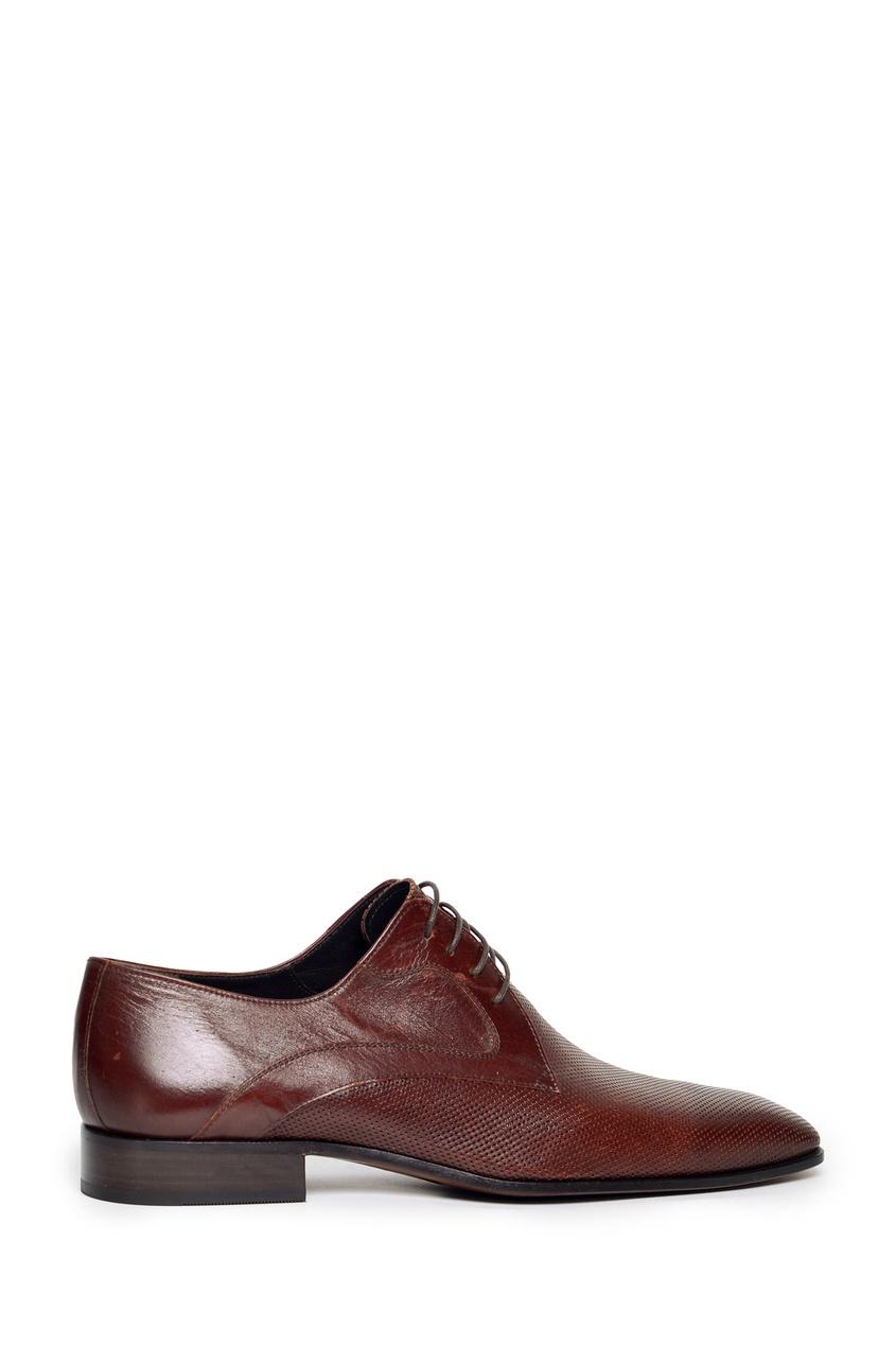 Коричневые туфли с перфорированной отделкой Artioli 1674154574 коричневый фото