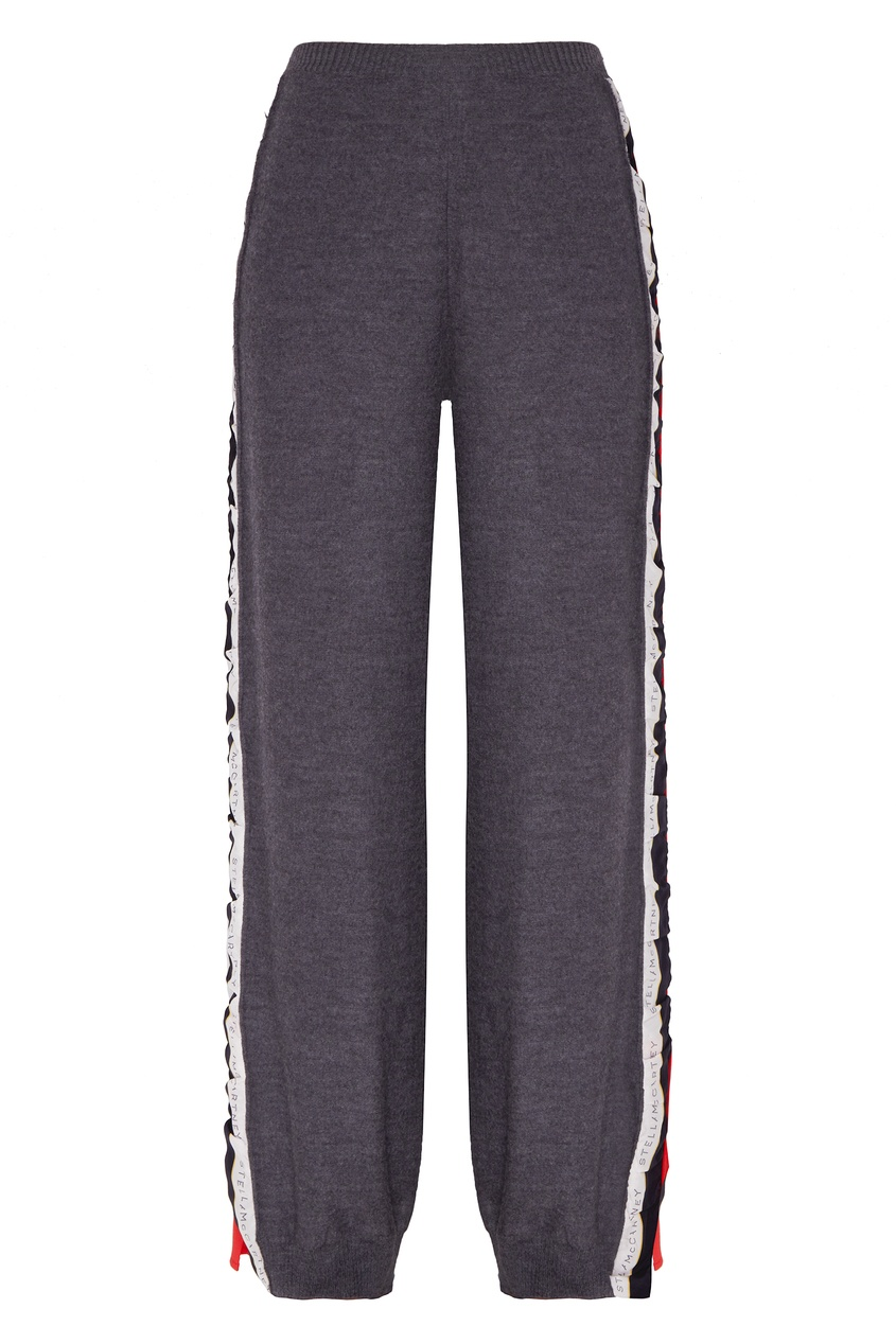 женские брюки stella mccartney, серые