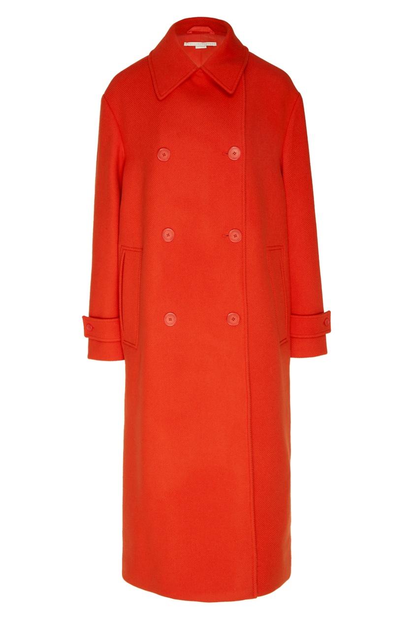 женское пальто stella mccartney, красное