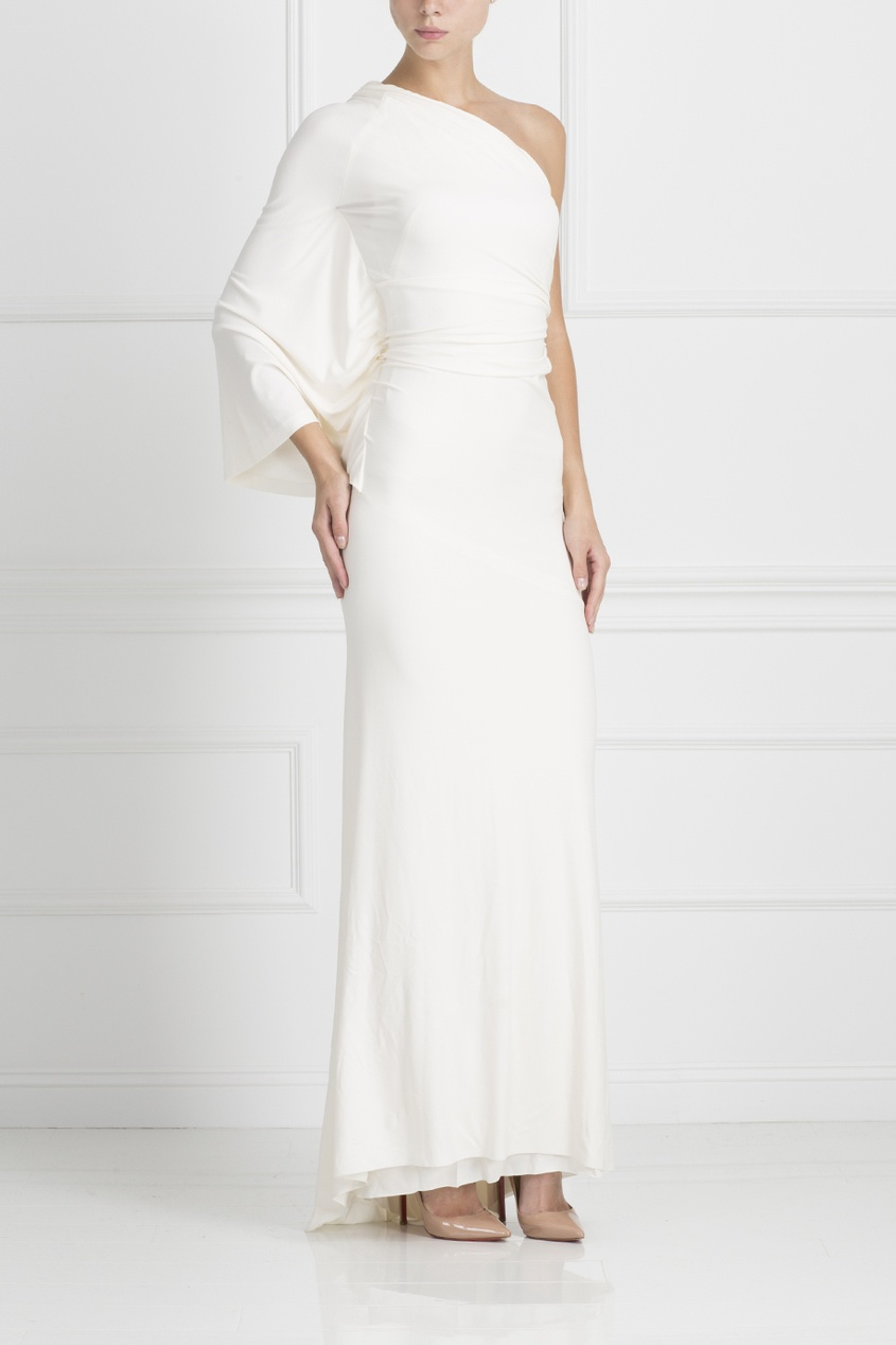 Однотонное платье Kaufmanfranco. Цвет: белый