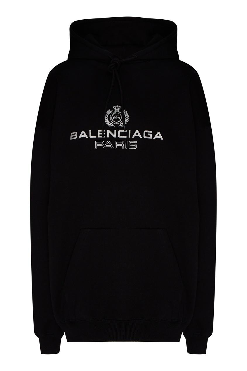 женские худи balenciaga, черные