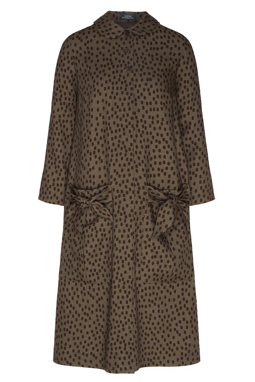 женское платье alena akhmadullina, леопардовое