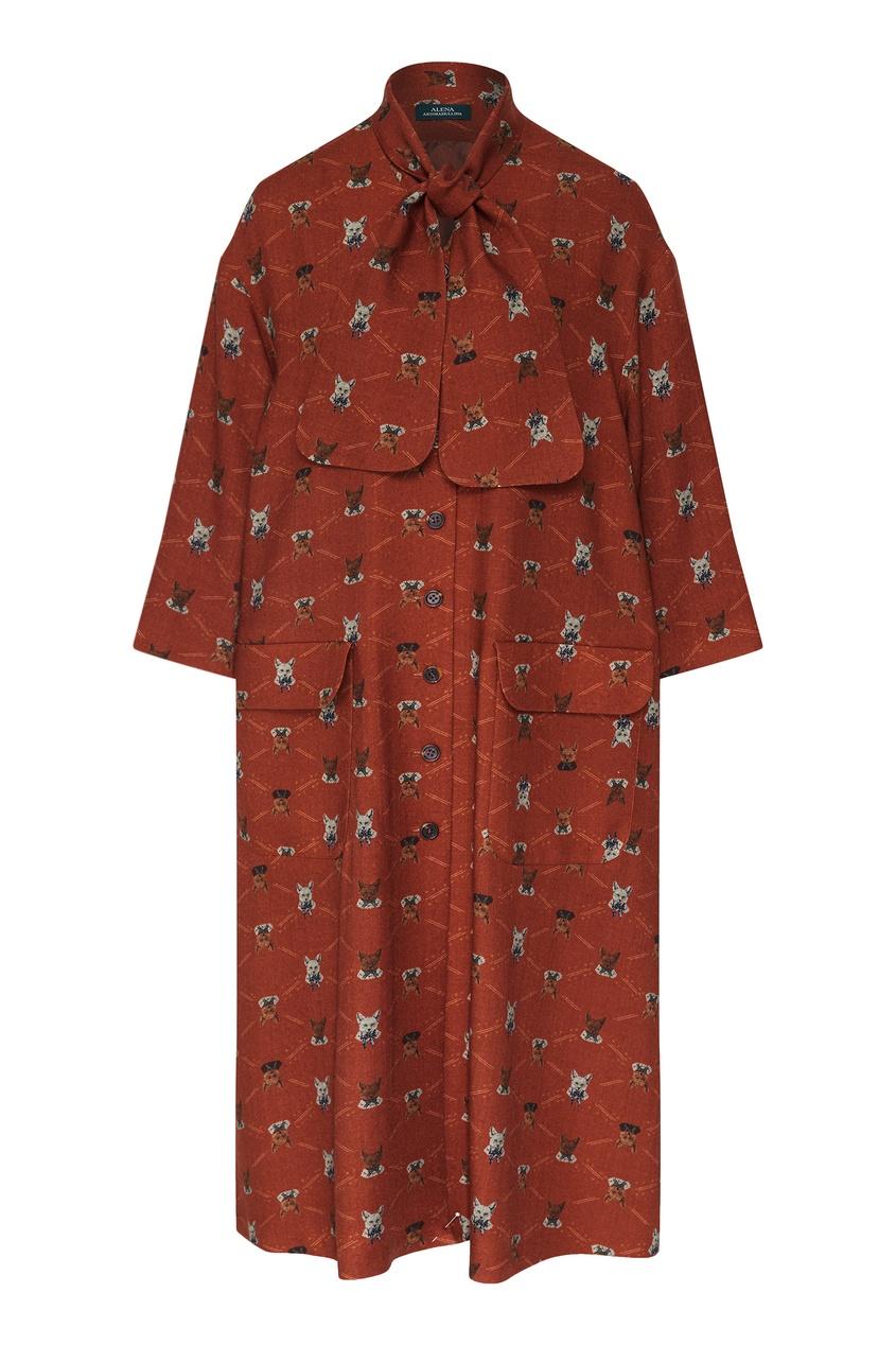 женское платье alena akhmadullina, коричневое
