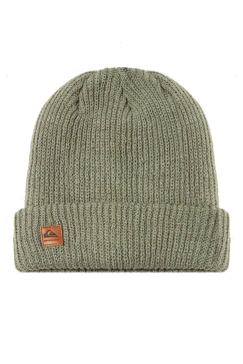 мужская шапка quiksilver, зеленая