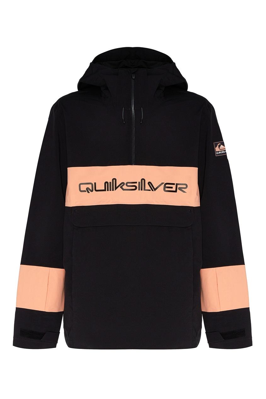 мужская куртка анораки quiksilver, черная