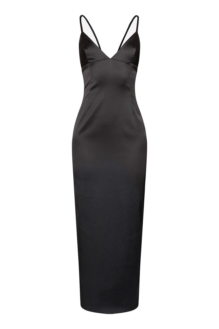 Платье-комбинация черного цвета от Alexander Terekhov