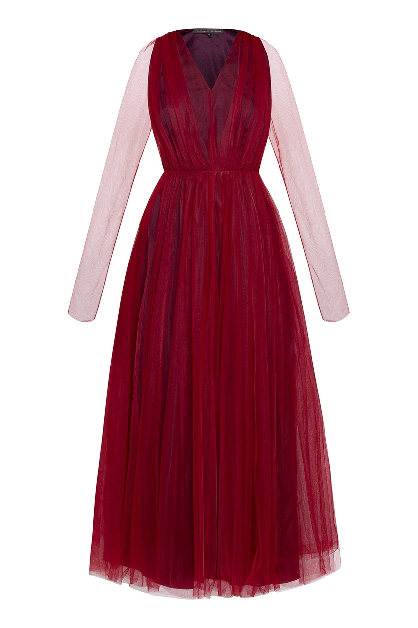 женское платье alexander terekhov, бордовое