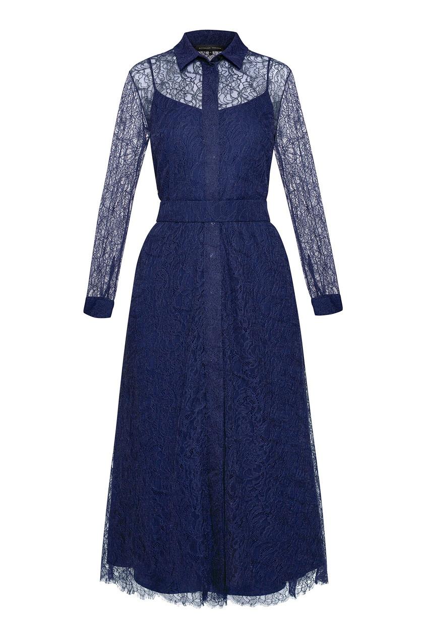 женское платье alexander terekhov, синее