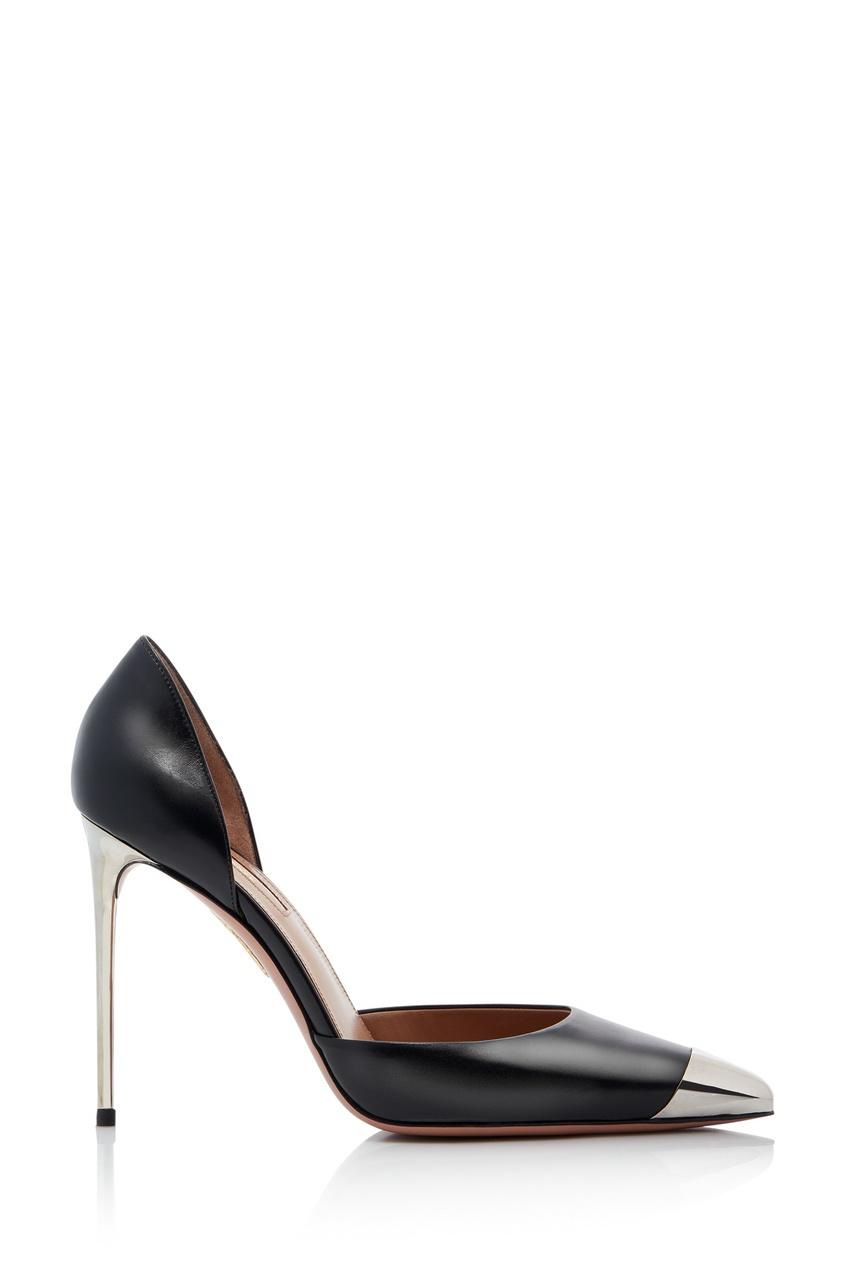Серебристо-черные туфли Very Vera 105 Vera Brezhneva x Aquazzura