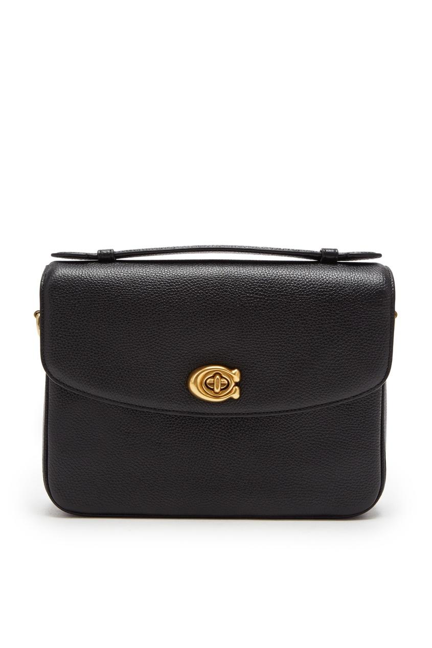 Фото - Черная кожаная сумка-кроссбоди Cassie от Coach черного цвета