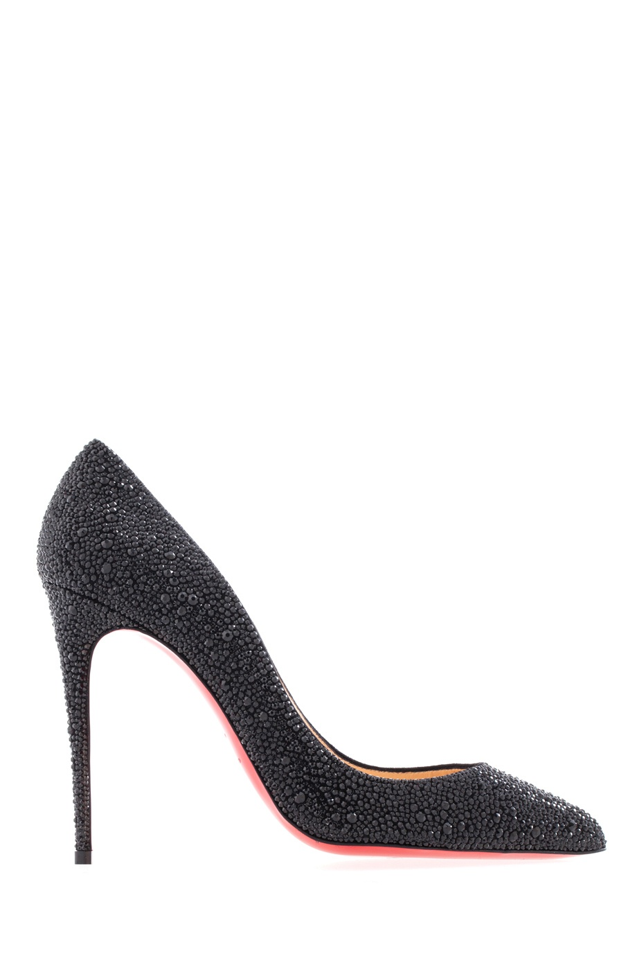 Кожаные туфли Pigalle Follies Strass 100 Christian Louboutin (фото)