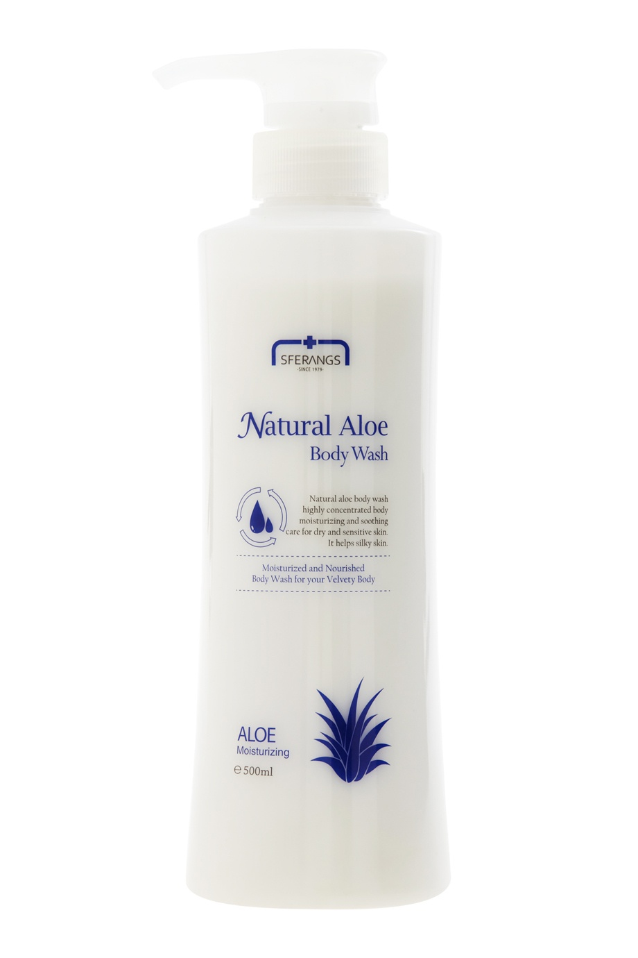 Гель для душа Natural Aloe, 500ml Sferangs (фото)