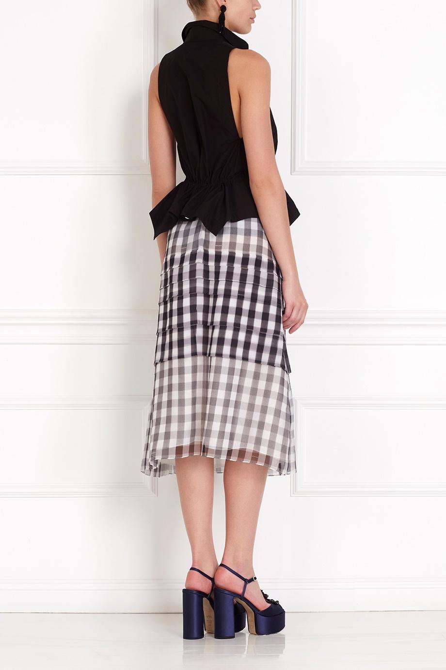 Кожаная юбка с блузкой доставка