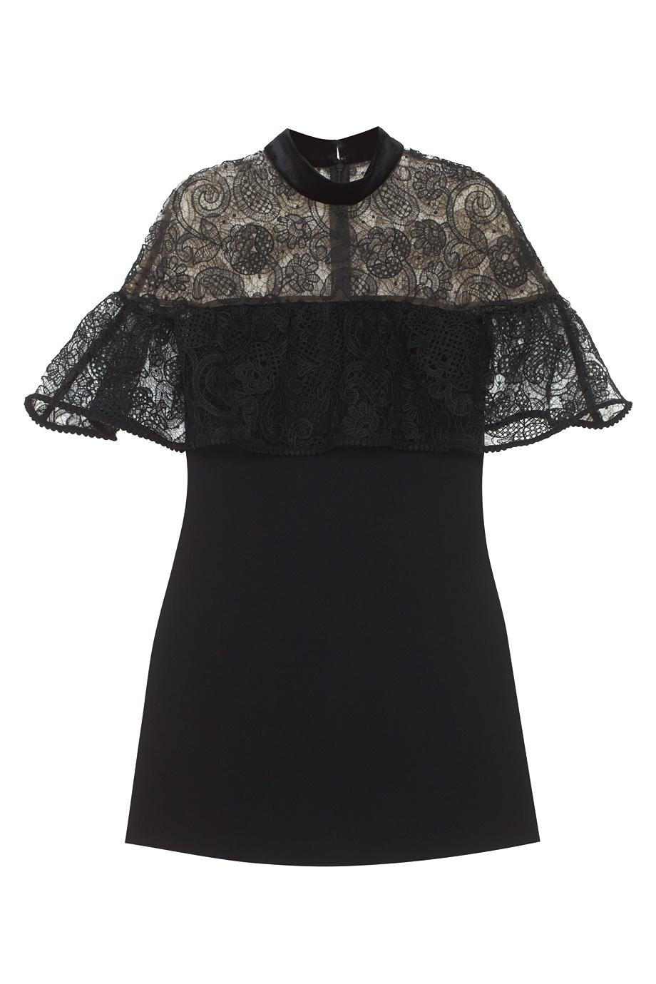 Черное платье с черным кружевом доставка