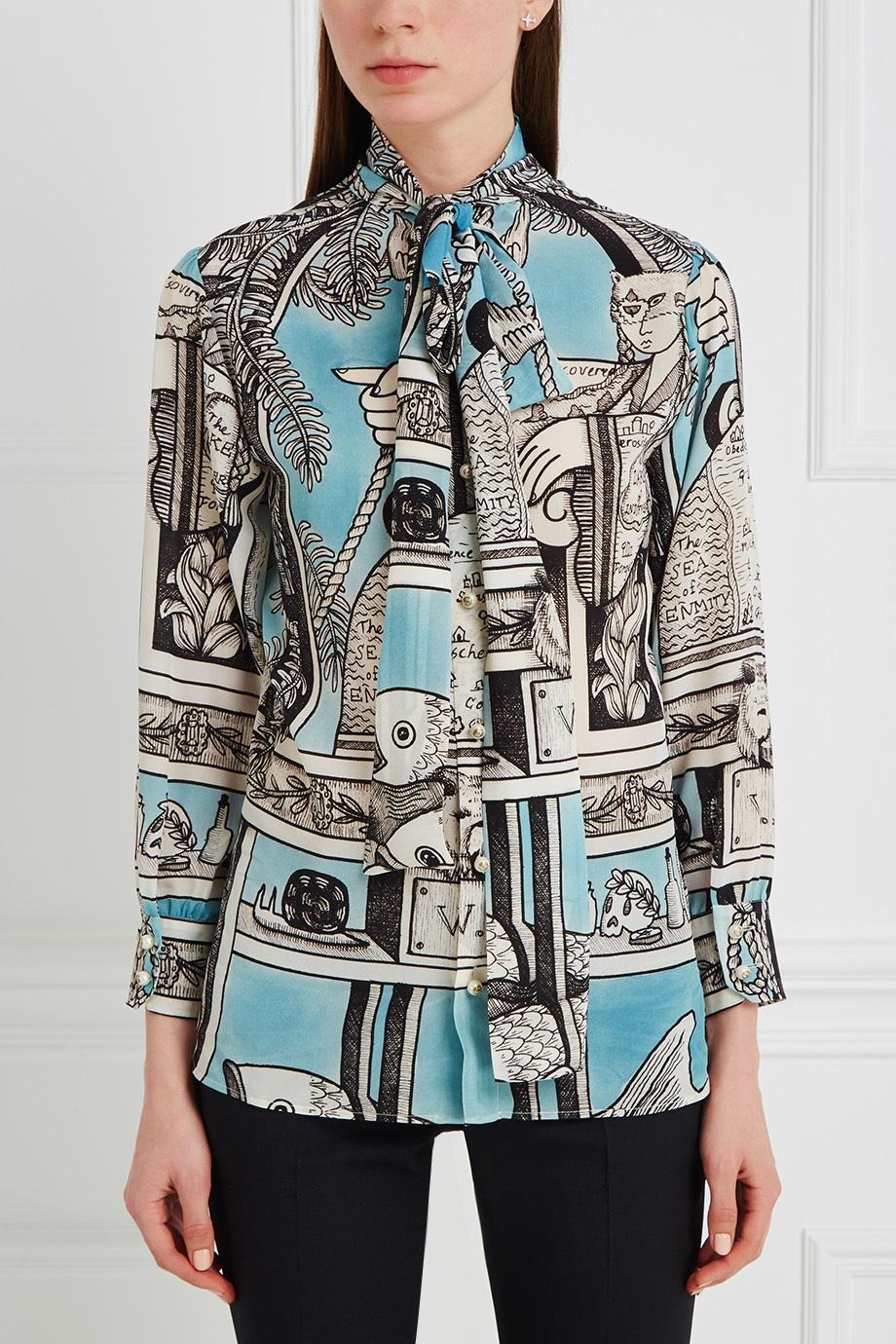 Блузки свободного покроя купить