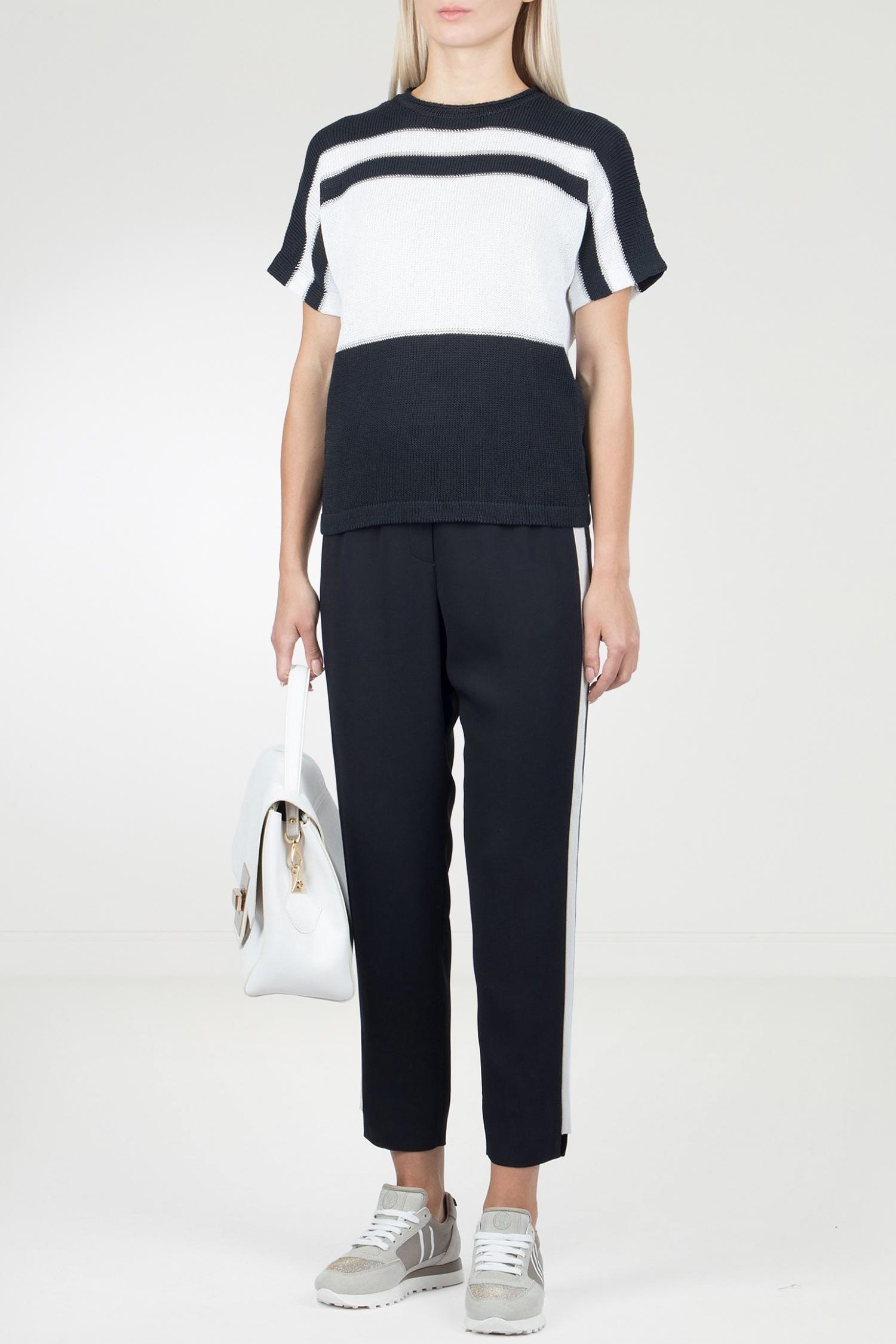 8f6e4cbc0bb0 Черные брюки с лампасами